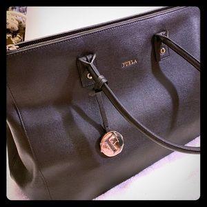 Furla Saffiano Leather Large Handbag